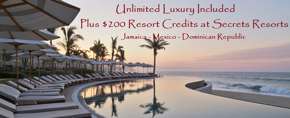 Secrets Resorts Unlimited Luxury Promo