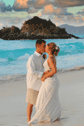 Destination Beach Wedding Coupl Kissing