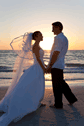Destination Beach Wedding Couple at Sunset